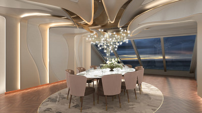 Privee private dining space aboard Vista