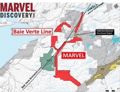 Figure 2. Location of the Marvel acquisition along the BVBL. (CNW Group/Marvel Discovery Corp.)