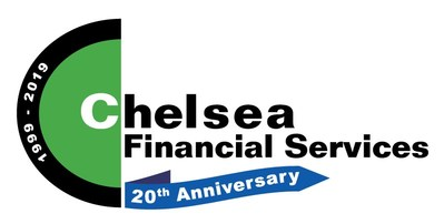 Chelsea Financial Services 20th Anniversary Logo