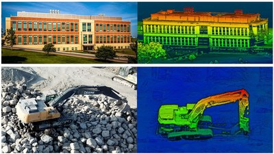 High-resolution point cloud images captured by the RTL-450