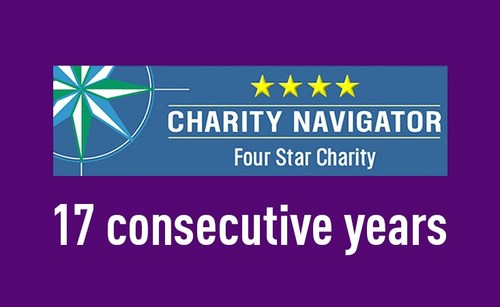 According to a representative from Charity Navigator, only 21 organizations out of more than 9,000 rated, or fewer than 1% of rated organizations, have received the distinction of a four-star rating with the same consistency as PanCAN.