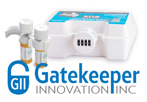 Gatekeeper Innovation Inc. secures medications. (PRNewsfoto/Gatekeeper Innovation Inc)