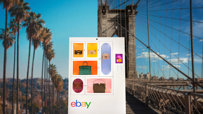 For two days only, eBay unveils 'Luxury Handbag Machines' in Dumbo, Brooklyn and Silver Lake, Los Angeles, bringing an unrivaled selection of handbags from coveted designers like Hermès, Chanel and Balenciaga into the hands of shoppers.