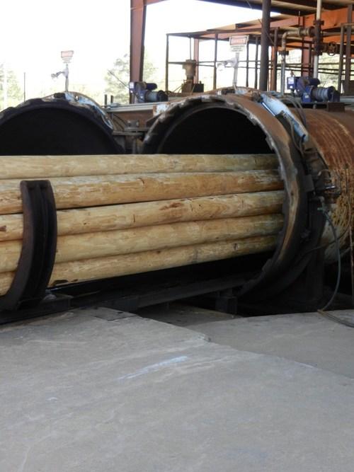 Baldwin  Pole & Piling Co. Bay Minette, AL utility pole treating cylinder
