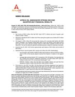 Africa Oil Announces Strong Second Quarter 2021 Financial Results (CNW Group/Africa Oil Corp.)