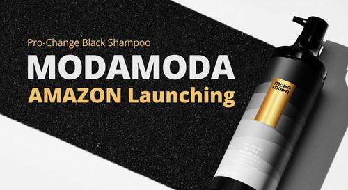 MODAMODA Pro-change Black Shampoo launch on Amazon