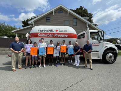 Representatives from Suburban Propane and 15-Love. Today, Suburban Propane and 15-Love joined forces to provide back-to-school supplies for more than 700 kids in the New York State Capital Region.