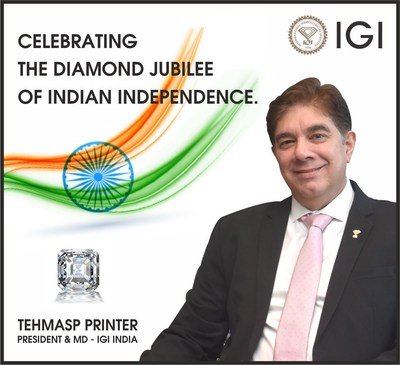Largest Ever Laboratory Grown Diamond 'Freedom of India' 14.6 CT. Certified by IGI