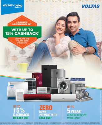 Special offers applicable on Independence Day range from Voltas and Voltas Beko