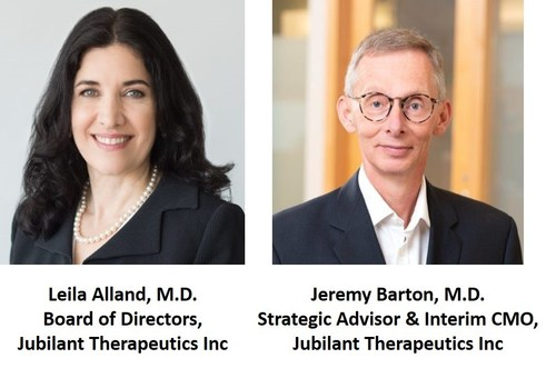 Jubilant Therapeutics Strengthens Board of Directors with Addition of Leila Alland, M.D. and Announces Appointment of Jeremy Barton, M.D., as Strategic Advisor and Interim CMO