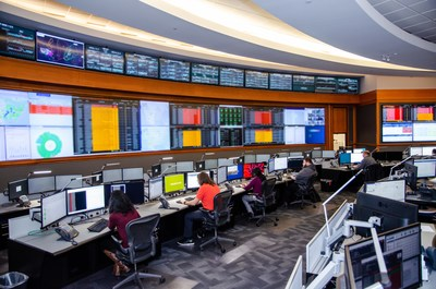 Pictured: Hughes manages flexible satellite communications solutions from its Network Operations Center.