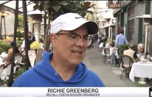 Richie Greenberg, Recall of San Francisco DA Chesa Boudin committee chairman and organizer