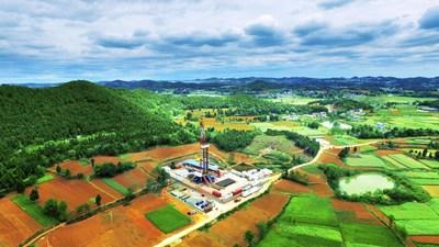 Sinopec révèle la première réserve de gaz naturel de 100 milliards de mètres cubes dans le bassin du Sichuan. (PRNewsfoto/SINOPEC)