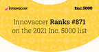 Innovaccer is No. 871 on the 2021 Inc. 5000, With Three-Year...