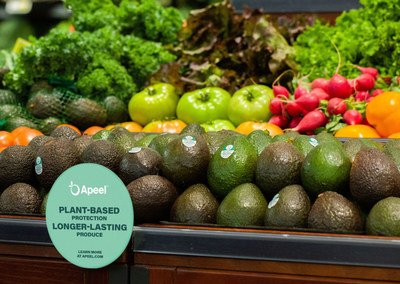 Apeel avocados in stores.