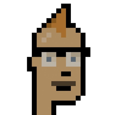 """Larva Labs' """"CryptoPunks"""" are a series of 10,000 unique collectible characters with proof of ownership stored on the Ethereum blockchain. The images are among the earliest examples of a """"Non-Fungible Token,"""" and were inspiration for the ERC-721 standard that powers most digital art and collectibles."""