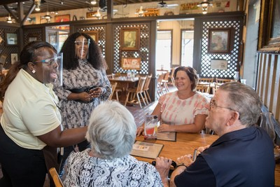 On Tuesday, Aug. 17, 2021, Cracker Barrel surprised guests with free breakfast in all 663 of its restaurants as part of its ongoing Care It Forward program. Brittney Spencer, one of CMT's Next Women of Country class members, helped break the exciting news to guests and fans at a Cracker Barrel in Nashville, Tenn. Learn more at crackerbarrel.com/careitforward.