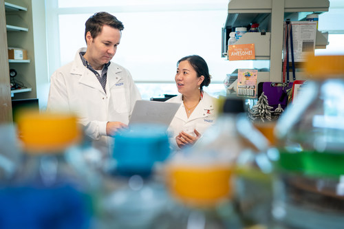 Marcus Fischer, Ph.D., and Shanshan Bradford, Ph.D, of the Department of Chemical Biology and Therapeutics at St. Jude Children's Research Hospital. Co-authors of a paper published in Chemical Science.