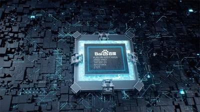 Digital visual of the Kunlun II AI Chip