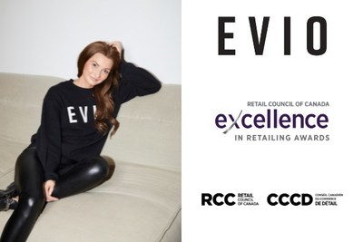 Brandi Leifso, CEO of Evio Beauty Group and recipient of the 2021 Independent Retail Ambassador of the Year Award, Excellence in Retailing Awards. (CNW Group/Retail Council of Canada)