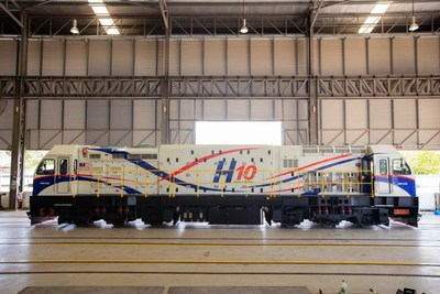 SMH Rail's latest 'H10 Series' Locomotive - 'First Made in Malaysia Locomotive' for export market.