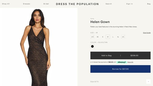 Dress The Population offers BORROW - a Flexible New Way to Rent Formal Wear.