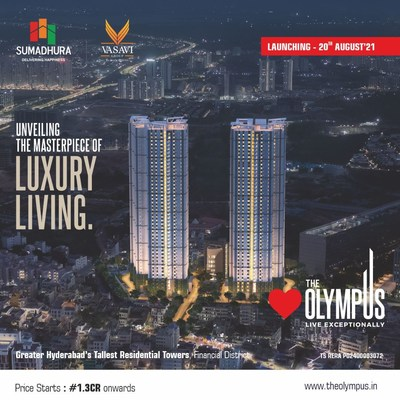 THE OLYMPUS, Greater Hyderabad's tallest residential towers is set to rise at financial district