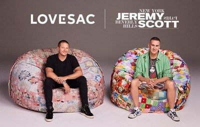 Shawn Nelson CEO & Founder of LOVESAC hangs with Fashion Designer Jeremy Scott celebrating their new collaboration