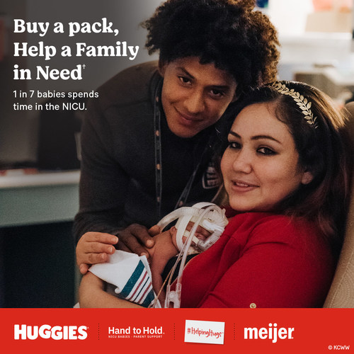 In Honor of NICU Awareness Month, Huggies® and Meijer are joining forces to support NICU Families. Huggies will donate up to $50,000 to non-profit Hand to Hold as part of its HelpingHugs™ campaign.