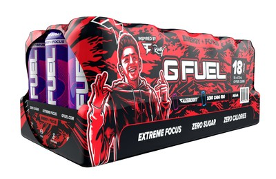 The wrapping of G FUEL's FaZe Clan Variety Pack features FaZe Clan's signature camo and new artwork of NICKMERCS and FaZe Rug on opposite sides of the pack. Each 16 oz G FUEL Can has zero calories and 300 mg of caffeine along with proprietary energy and focus-enhancing complexes. In other words, the FaZe Clan Variety Pack will give fans the focus and energy they need to grab that W and #FaZeUp!