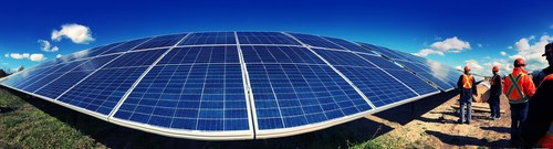 The 44 MW Nanticoke Solar facility is a partnership between the Six Nations of Grand River Development Corporation, the Mississaugas of the Credit First Nation and OPG. (CNW Group/Ontario Power Generation Inc.)