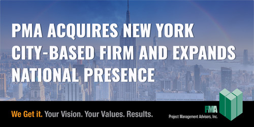 Project Management Advisors Inc. (PMA), a national real estate advisory firm providing consulting services as the owner's representative, today announced it has signed a lease in the Empire State Building to support its New York staff and the team from LPE Management Services, which PMA recently acquired.