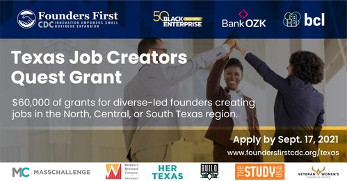 Founders First CDC Texas Grant