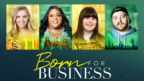 images of four disabled entrepreneurs and logo for Born for Business