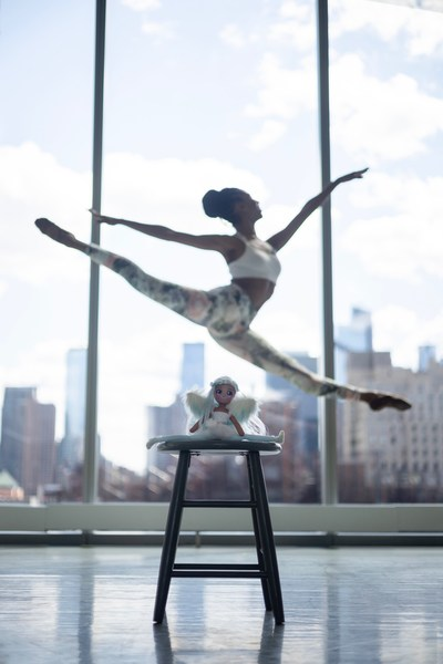 Jacqueline Green, principal dancer with the prestigious Alvin Ailey American Dance Theater, leaps over 'Luna,' one of four new Dream Seekers dolls from Moose Toys. Green will be narrating a mini podcast for each of the dolls. Created by Rebel Girls, in partnership with Moose, the podcasts spotlight real life female figures who have reached for and achieved their dreams. Like the dolls, the podcasts are intended to inspire young girls to be confident in following their dreams.