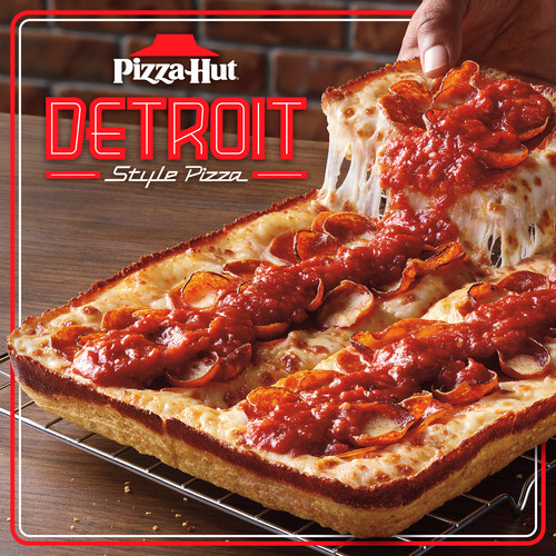 Back by popular demand, fan-favorite Detroit-Style pizza is BACK at Pizza Hut, now available with up to any five toppings for a limited time.