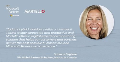 Martello Joins Microsoft Global Solutions Alliance Program (CNW Group/Martello Technologies Group Inc.)