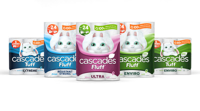 CASCADES LAUNCHES INNOVATIVE AND INDUSTRY-LEADING 100% RECYCLED PACKAGING ACROSS ITS CASCADES FLUFF & TUFF® PRODUCT LINE (CNW Group/Cascades Inc.)