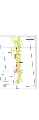 Figure 2: Mineralization at La Escarcha, Gabby, Garrapatillia and Brownfields Targets (CNW Group/Mantaro Silver Corp.)