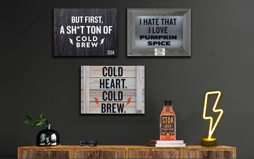 STōK Pumpkin Cold Brew celebrates the cheugiest time of year with edgy home décor