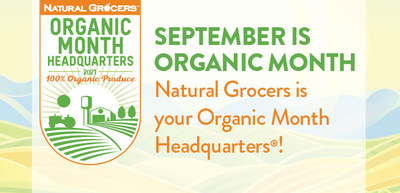 Join Natural Grocers for Organic Harvest Month (September) to enjoy discounts on organics, the month-long Beyond Pesticides fundraiser, a free reusable shopping bag and more. With its 100% certified organic produce department, hundreds of organic items across all departments, and its championing of organic-supportive brands and organizations, Natural Grocers is America's Organic Headquarters.