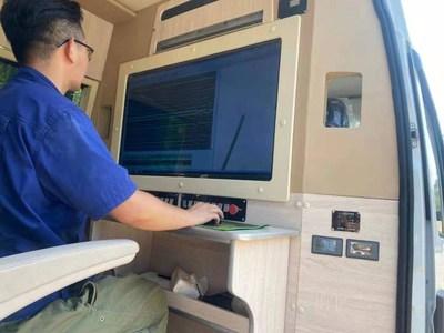 El vehículo de detección para carreteras XCMG XJC405 puede generar imágenes rápidamente a través de las tuberías subterráneas a una profundidad de más de tres metros. (PRNewsfoto/XCMG)