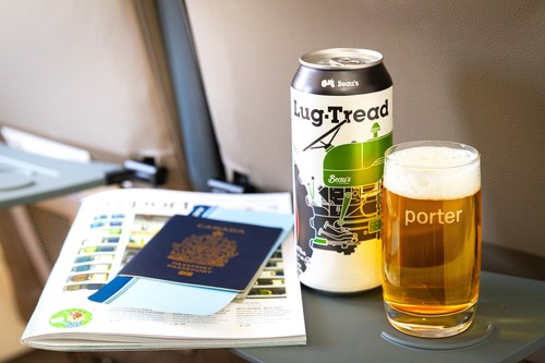 Porter Airlines toasts Beau's Brewing Co. as new in-flight beer partner (CNW Group/Porter Airlines)