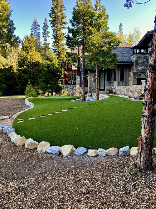 Artificial Grass Installation by Natural Tech Artificial Grass and Landscaping in Lake Tahoe
