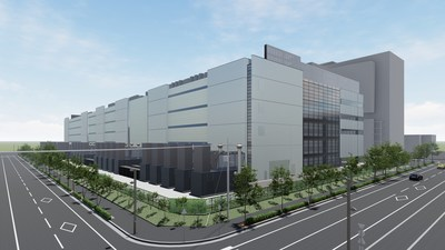 CGI of Colt DCS' upcoming 45MW data centre in Osaka, Keihanna