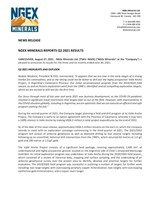 NGEx Minerals Reports Q2 2021 Results (CNW Group/NGEx Minerals Ltd.)