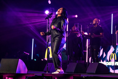 Gospel's newest artist Bri Babineaux takes the stage to perform her latest hit singles at the McDonald's Inspiration Celebration Gospel Tour.