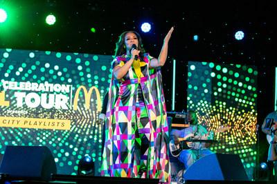 GRAMMY award-winning Gospel superstar and singer/songwriter Erica Campbell shares songs of praise and hope on the McDonald's Inspiration Celebration Gospel Tour.