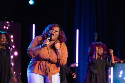 GRAMMY winner Tasha Cobbs Leonard sets the stage at McDonald's Inspiration Celebration Tour, leading the audience in praise and worship.