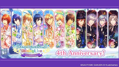 KLab Inc., a leader in online mobile games, together with BROCCOLI Co., Ltd., announced that its smartphone rhythm game Utano☆Princesama Shining Live celebrated its 4th anniversary on Saturday, August 28. Enjoy the newly added content and campaigns. In addition, the Utano☆Princesama Shining Live 4th Anniversary Special Livestream is scheduled for Friday, September 3.